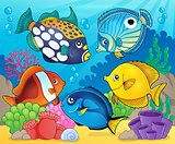 Coral reef fish theme image 8