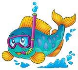 Fish snorkel diver theme image 1