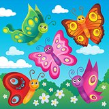 Happy butterflies theme image 1