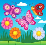 Happy butterflies theme image 3