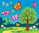 Happy butterflies theme image 6