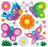 Happy butterflies theme set 2