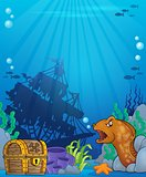 Ocean underwater theme background 6