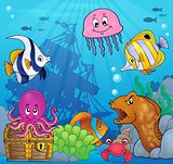 Underwater ocean fauna theme 8