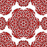 Abstract seamless floral  vector pattern
