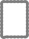 Ornamental black frame with arc elements