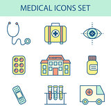 Flat Line Medical Icon