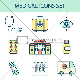 Flat Line Medical Icon