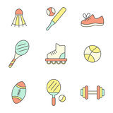 Flat Line Sport Icons