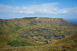 Volcano Rano Kau on Easter Island