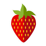red flat strawberry