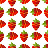 seamless of flat strawberries