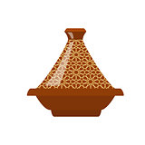 Moroccan tajine isolated