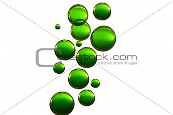 Green air balloons