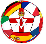 Ball with flag of  North Ireland in the center