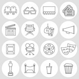 Cinema outline icons