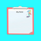 Note paper and paper clip