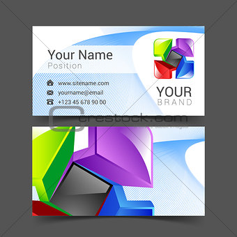 abstract decorative multicolor card business logo