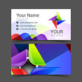 abstract decorative multicolor business card for your  logo