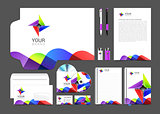 item set corporate identity for your business color abstract logo