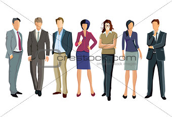 a group of businessmen and businesswomen