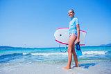 Happy Surfing girl.