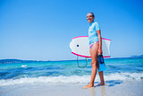 Happy Surfing girl.