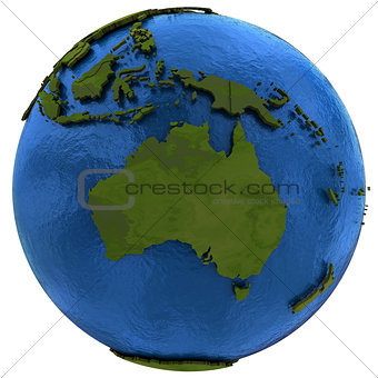 Australian continent on Earth