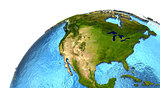 North American continent on Earth