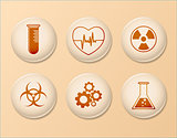 Set of Science Icons, Linear Vector Design
