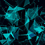 Abstract digital background with cybernetic particles