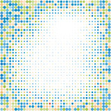 Colorful halftone background.Halftone dots frame.Abstract vector illustration.