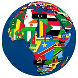 Political Africa map