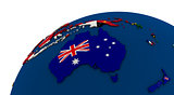 Political Australia map