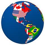 Political Americas map