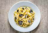 Tagliatelle with morel mushrooms