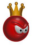 evil red king smiley - 3d illustration