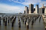 Old pier pylons.