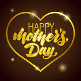 Mothers Day vector greeting card.