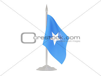 Flag of somalia with flagpole. 3d render