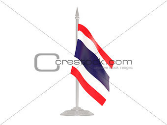 Flag of thailand with flagpole. 3d render