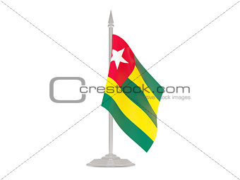 Flag of togo with flagpole. 3d render