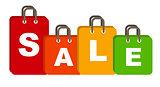 Sale Bag Concept of Discount. Vector Illustration