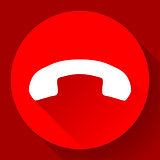 Red Phone Call end vector Icon