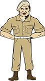 Ranger Standing Attention Cartoon