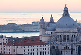 Venice city (Italy) sunset view.