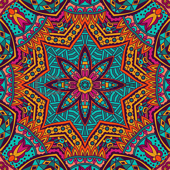 Abstract Tribal ethnic seamless pattern ornamental