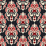 Luxury seamless damask floral motif