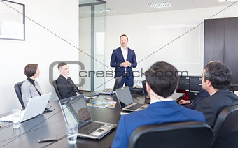 Corporate business team office meeting.