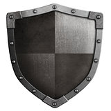 medieval shield 3d illustration isolated